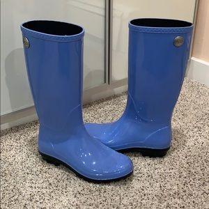 UGG sienna shaye rainboots cornflower blue size 7